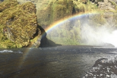 Rainbow at Skógafoss